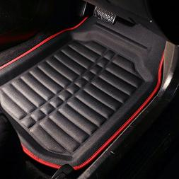 FH Group Tray Style Car Mats F14409REDBLACK Deep Tray All We