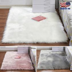 Faux Fur Rug Fluffy Mat Room Sofa Bed Shoebox RugsShaggy Flo