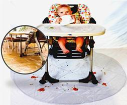 "Finally, Relaxing Baby Meal Times! 50"" Food Mat for Baby,"