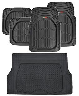 Motor Trend FlexTough Deep Dish Heavy Duty Rubber Floor Mats