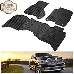 KIWI MASTER Floor Mats Compatible for Dodge Ram 1500-5500 Cr