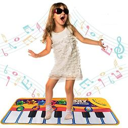 Floor Piano Mat Toy Piano Play Mat for Kids Babies Toddlers