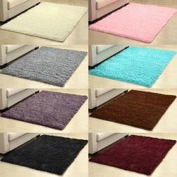 Fluffy Rugs Anti-Skid Shaggy Area Rug Living Room Bedroom Fl