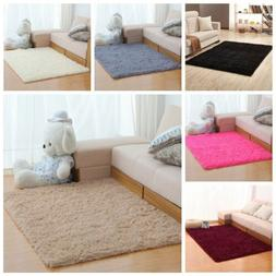 Fluffy Rugs Anti-Skid Shaggy Area Rug Home Bedroom Living Ro