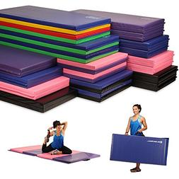 We Sell Mats Folding Exercise Gym Mats, 4x6, Black