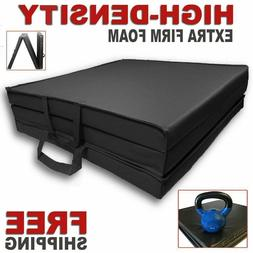 HIGH-DENSITY Folding Mat Thick Foam Fitness Exercise Gymnast
