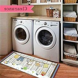USTIDE Fresh Bubbles and Suds Non Skid Floor Runner Laundry