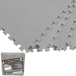 Gray 128 Sqft Exercise Play Foam Gym Floor Flooring Mat Inte
