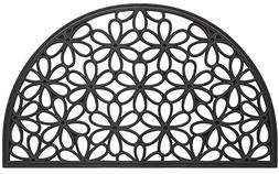 Half Round Daisy Wrought Iron Heavy Duty Rubber Entrance Doo