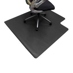 Resilia Office Desk Chair Mat–Black 3' x 4' Rectangle Hard