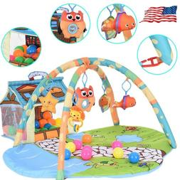 Infant Baby Activity Gym Playmat Carpet Floor Rug Mat Toddle