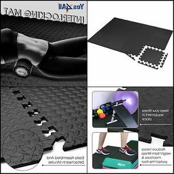 Yes4All Interlocking Exercise Foam Mats with Border – Inte