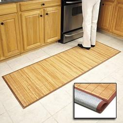 Bamboo Floor Mat Kitchen Bathroom Spa Hot Tub Front Back Doo