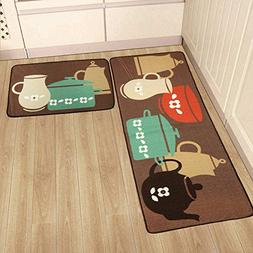 2 Pack Kitchen Rugs and Mats Set,SHACOS Polypropylene Kitche