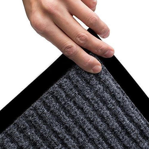 2-Pack Mats Entryway, x Traffic & Black Floor Mat with