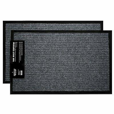 "2-Pack Indoor Outdoor Floor Mats for Entryway, 17"" x 29.5"" A"