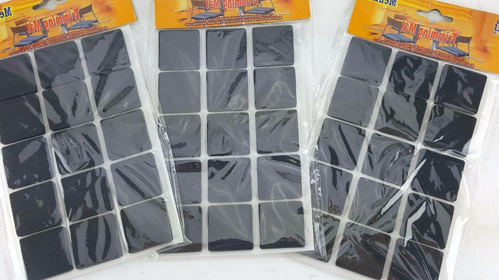 """3 PACK LOT 15PC 1"""" FOAM SQUARES STICKY BACK TRIMMING MAT HOB"""