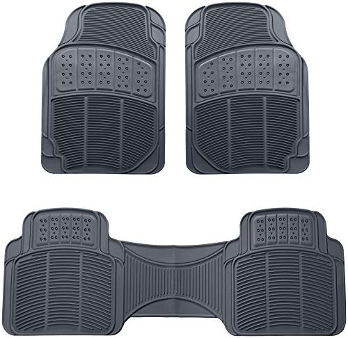 3 piece car floor mat gray