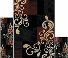 Throw Rugs 3 Piece Set Living Room Area Floor Mat Runner Sca