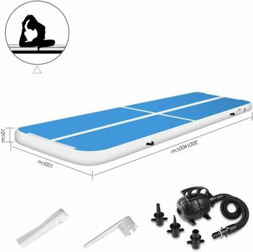 10/13ft Inflatable Air Track Floor Home Gymnastics Tumbling