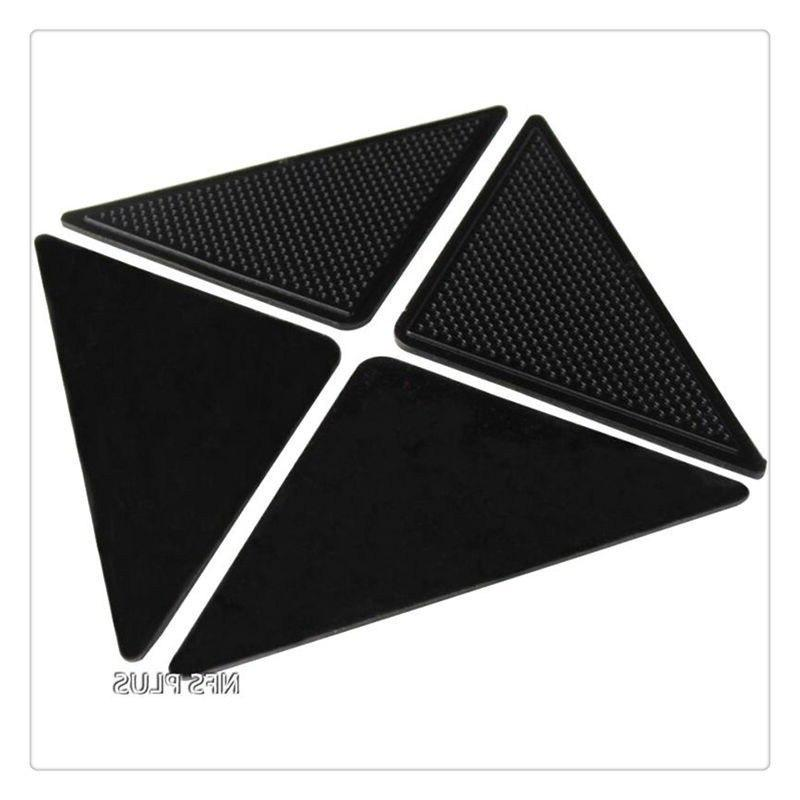 4 Pack Sticky Carpet Rug Grippers Triangle <font><b>Washable</b></font> Reusable
