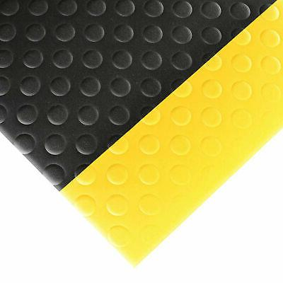 NOTRAX 417S0035BY Antifatigue Mat, 3 ft. x 5 ft, Blk w/Ylw