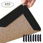 8x Mat Grips Non-Slip Skid Rug Grippers Carpet Reusable Tape