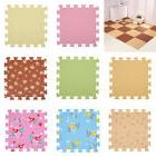 9 Pieces Interlocking Foam Mat Floor Tiles Kids Play Mats Pu