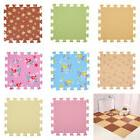 9 Pieces Interlocking Foam Mat Floor Tiles Kids Play Mat Puz