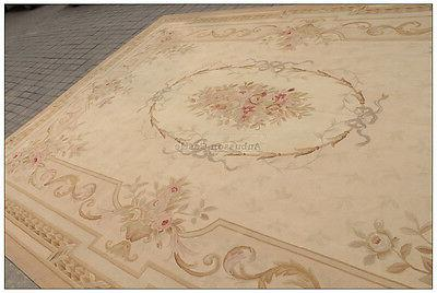 9x12 Aubusson Area ANTIQUE FRENCH PASTEL Handwoven NEW