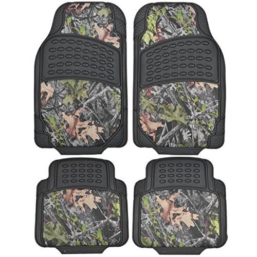 BDK Camouflage 4 Piece All Weather Waterproof Rubber Car Flo