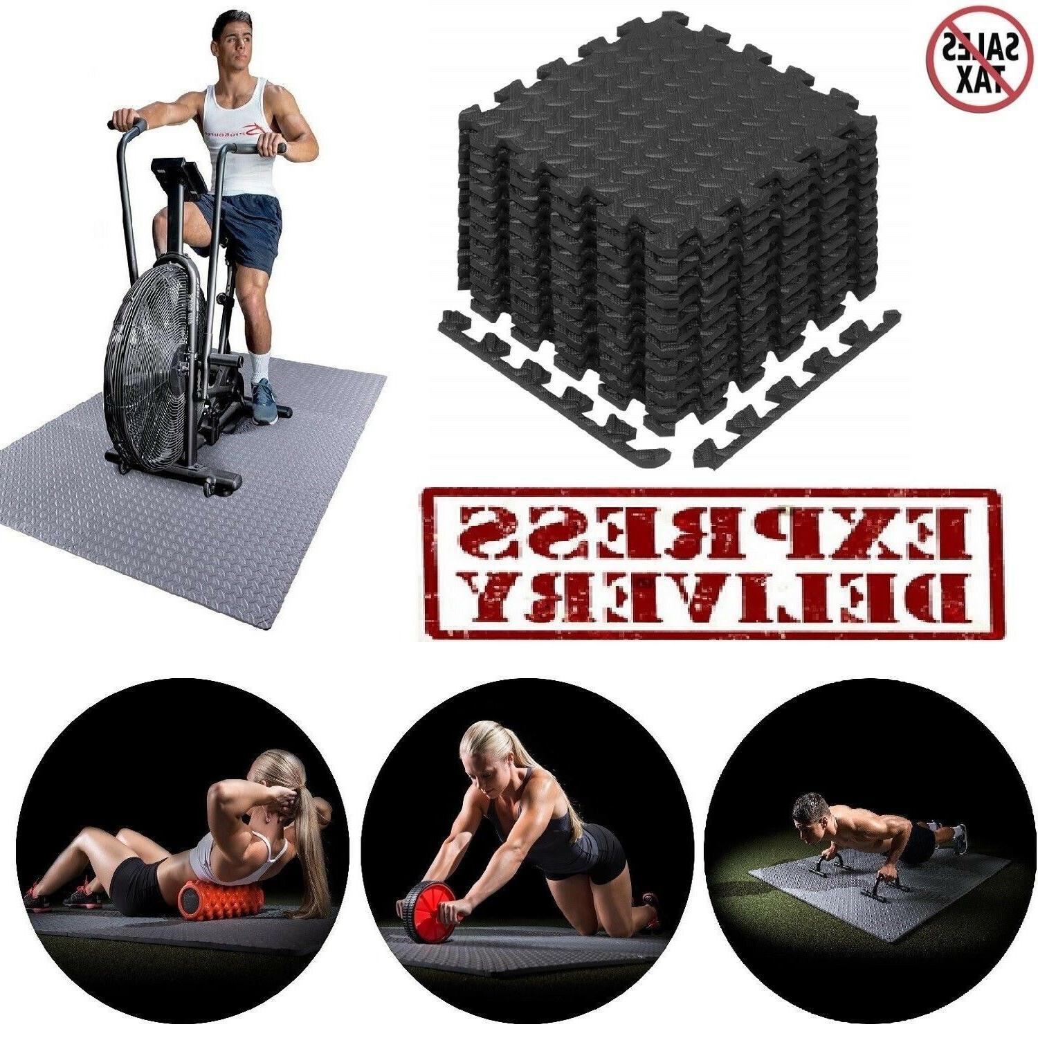 Exercise Floor Mat Fitness Puzzle Rug Gym 12 SF Workout Equi
