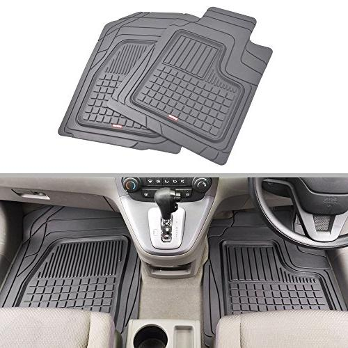 Motor Trend BC210-B2 Grey Performance Plus Rubber Car Floor Mats Weather Liners