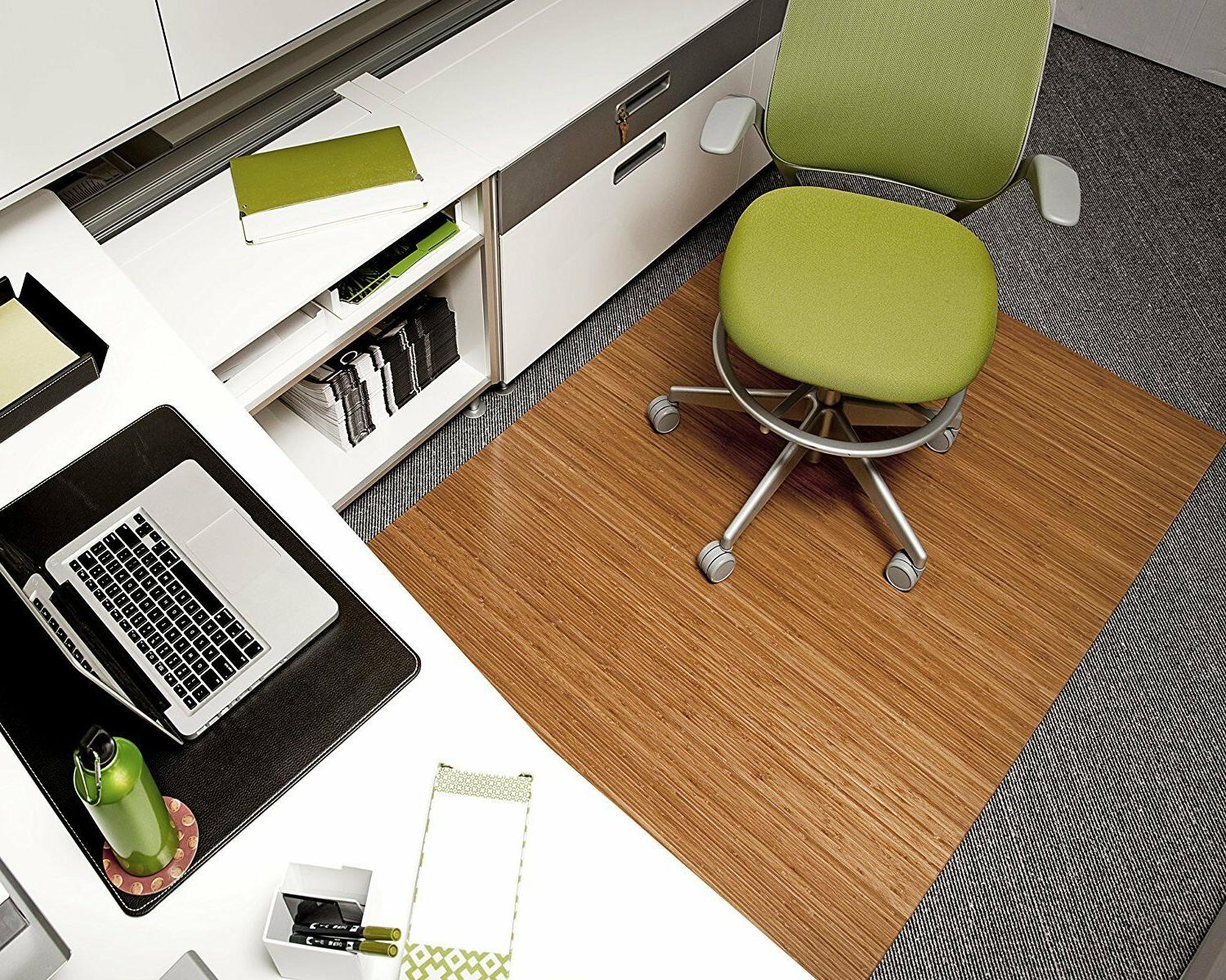 Anji Deluxe Fiber Wooden Chairmat without Lip,