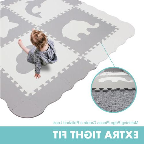 Baby Play Mat with Fence - Large , Foam Puzzle Mat for