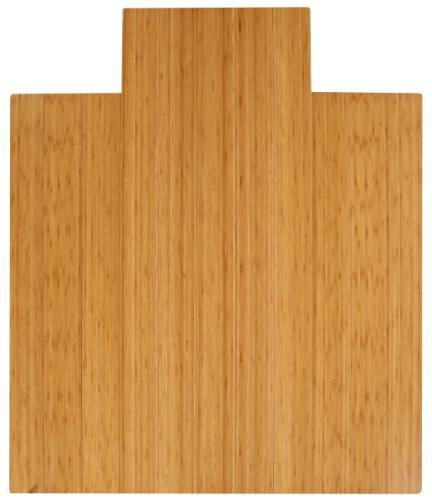 Anji Mountain Natural Bamboo Deluxe Roll-Up Chairmat with li