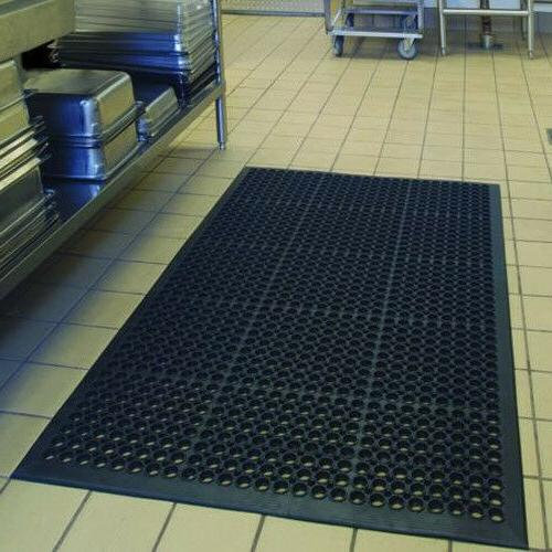 "Black Anti-Fatigue Floor 36"" x 60"" Cushion Heavy US Stock"