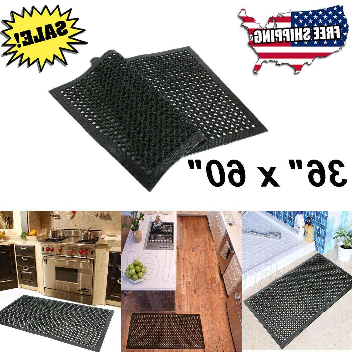 black anti fatigue floor mat 36 x