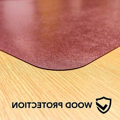 Resilia- Desk Chair Mat–Burgundy x 48""