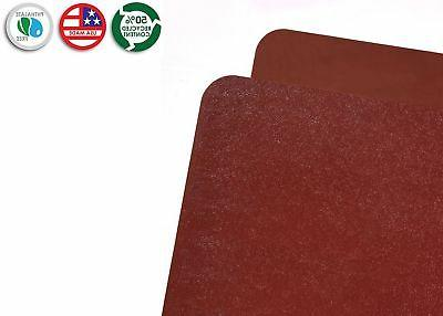 Resilia Chair Mat–Burgundy 3' Rectangle Hard floor