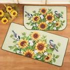 Chickadee Birds Sunflower Floral Flowers Kitchen Floor Runne