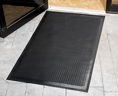 Guardian Clean Step Scraper Outdoor Floor Rubber, Black, Ideal for any outside Scrapes Dirt