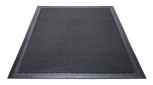 Guardian Clean Step Scraper Outdoor Floor Mat, Natural Rubbe