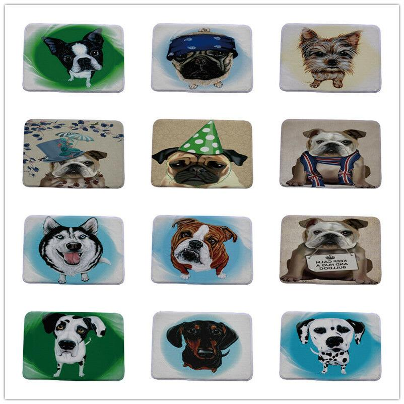Cute Pug Spotty Dog Printing Carpet Stair Mats Anti-slip Flo