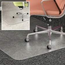 DuoMat Carpet/Hard Floor Chairmat - Carpet, Hard Floor - 60""