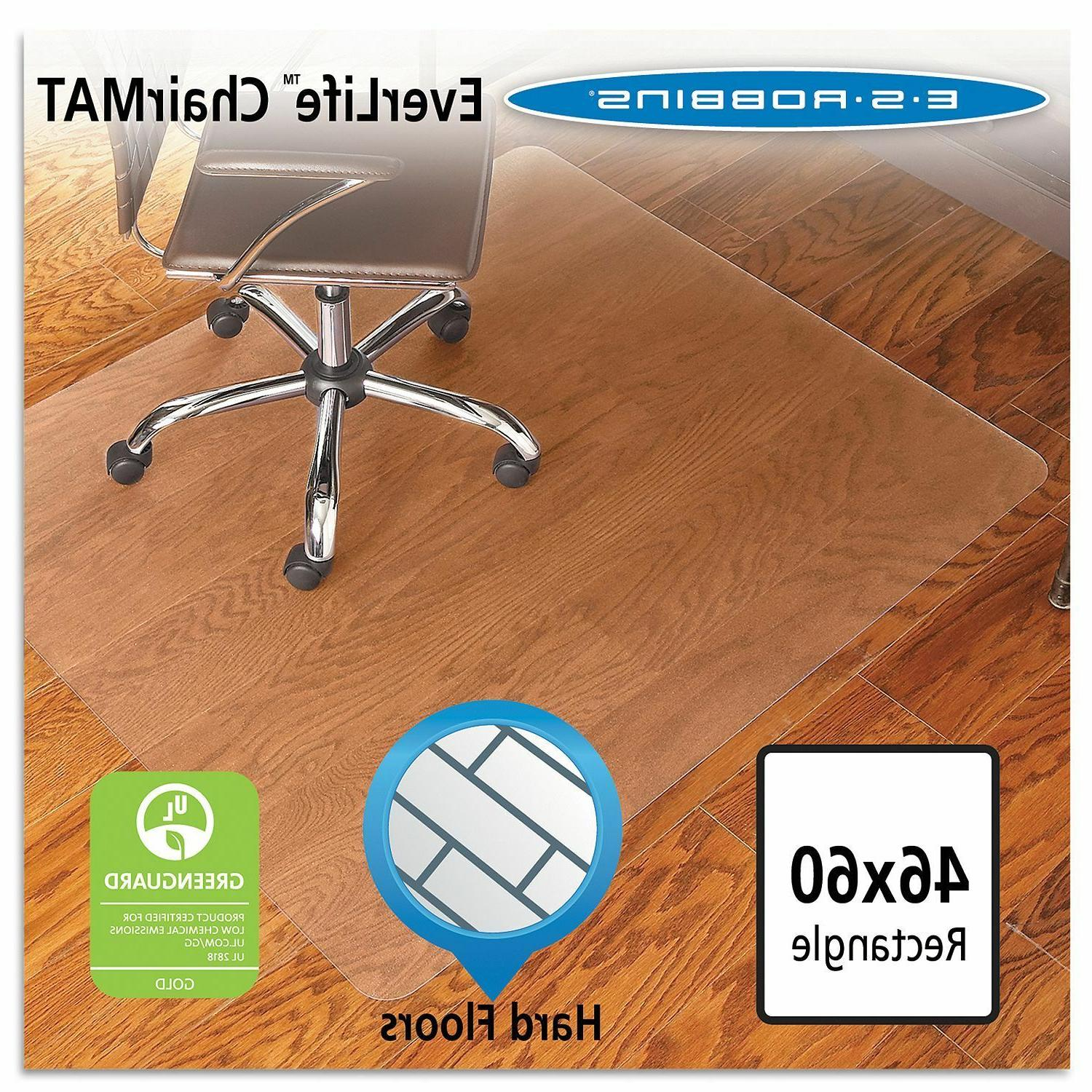 economy rectangular chairmat office hard