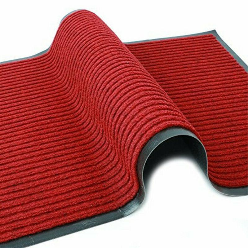 Red Indoor Non-Slip Entry Rug