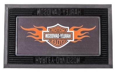 Harley-Davidson Entry Floor Mat, Flame Bar & Shield Kitted S