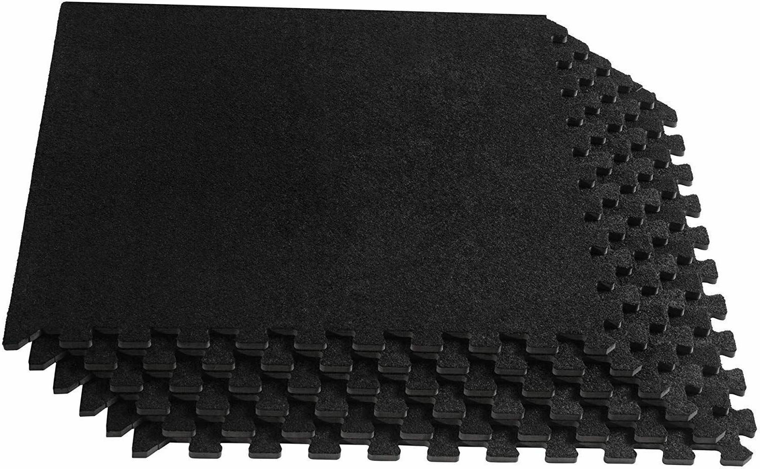 EXERCISE FLOOR MAT 24 x 24 Puzzle Rug Gym Fitness Workout Eq