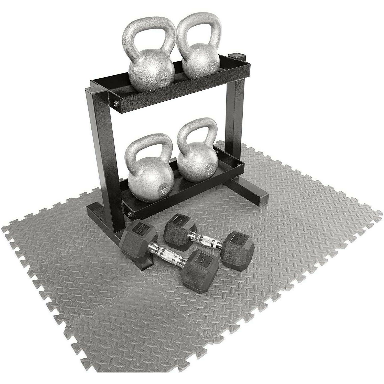 Exercise Puzzle Rug Gym 12 SF Equipment Lifting
